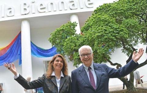 57 biennale Venezia - Paolo Baratta e Christine Macel