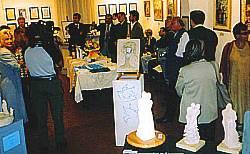 La saletta Machiavelli affollata durante la mostra
